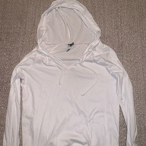 White long sleeve with hood